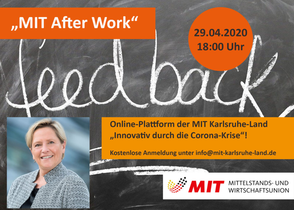 MIT After Work am 29.04.2020